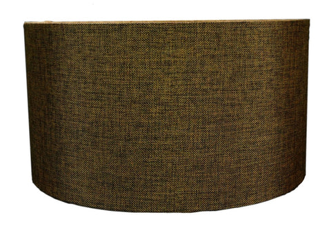 "0-002029>Chocolate Burlap Hardback Drum Lampshade 16""x16""x8"""
