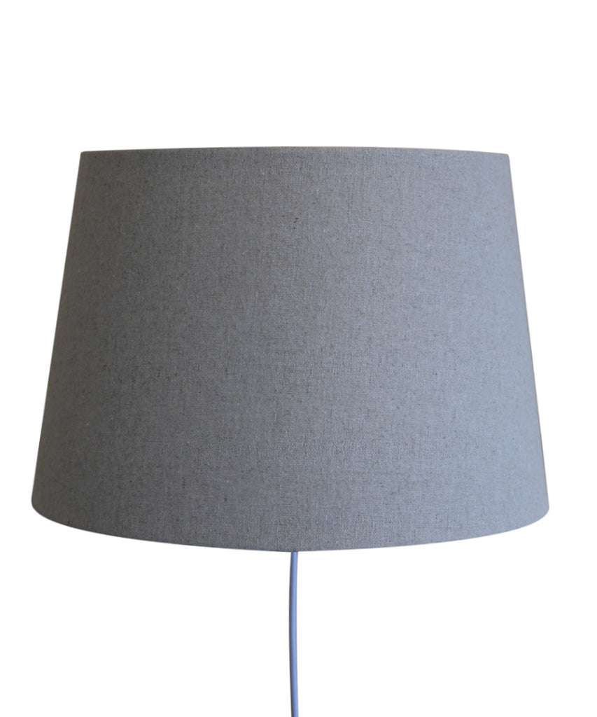 Floating Shade Plug-In Wall Light Sand Linen 13x16x11