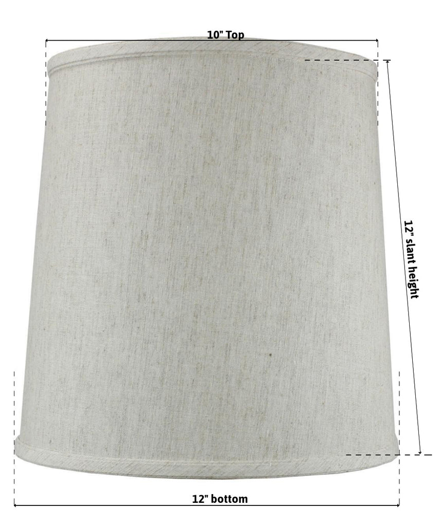10x12x12 SLIP UNO FITTER Textured Oatmeal Drum Shade