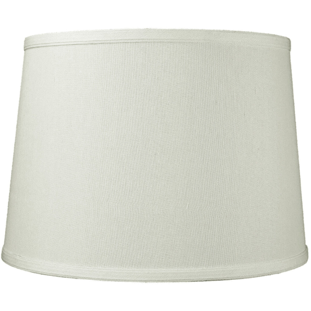0-001458>12x14x10 SLIP UNO FITTER Light Oatmeal Linen Drum Lampshade