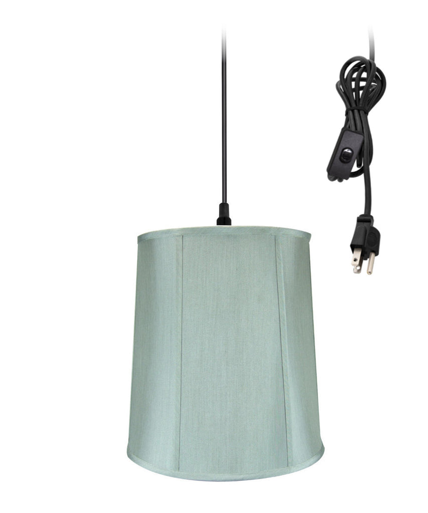 "0-002000>14""w 1-Light Plug-In Swag Pendant Lamp Gray"