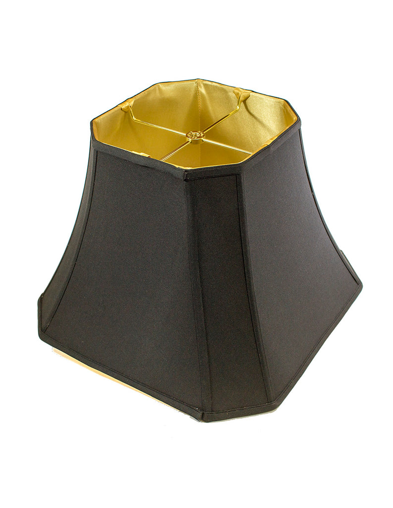 0-000125>9x16x12 Square Cut Corner Shade Black Fabric/Gold Liner