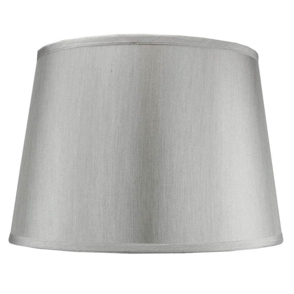 13x16x11 SLIP UNO FITTER Bavarian Gray Fabric Floor Lampshade, Silver liner