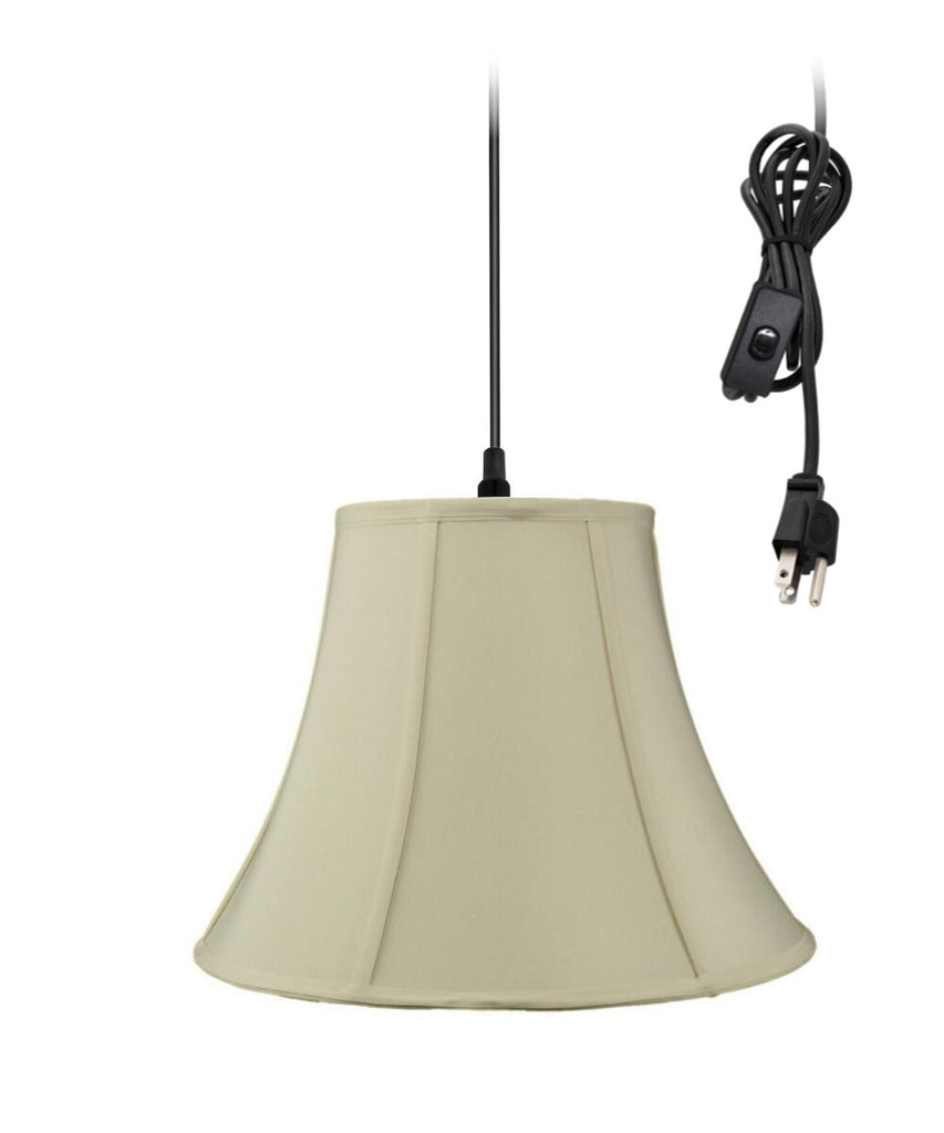 0-002000>Swag Pendant Plug-In One Light Eggshell Shade