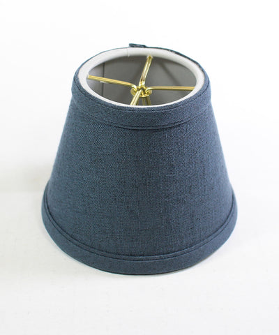 0-002005>Textured Slate Blue Chandelier Lamp Shade -
