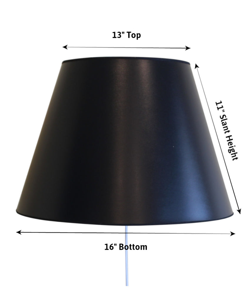 0-000711>Floating Shade Plug-In Wall Light Black Parchment Gold-Lined 13x16x11