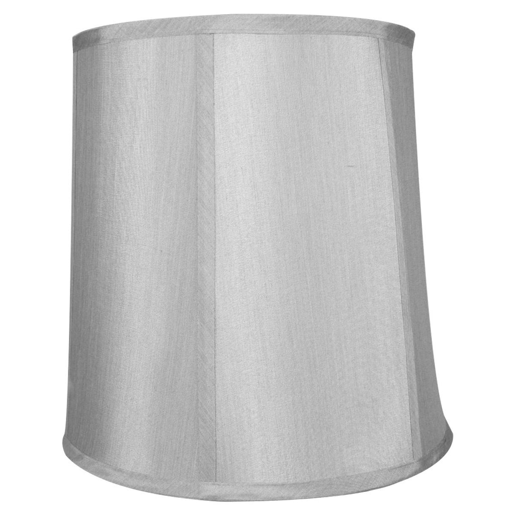 0-000196>10x12x12 Bavarian Grey Shantung Fabric Drum Lampshade