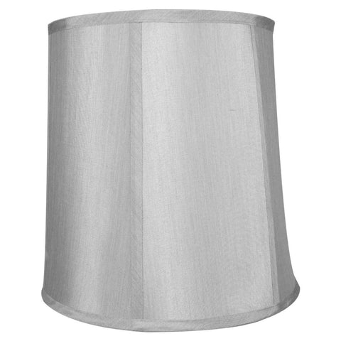 10x12x12 Bavarian Grey Shantung Fabric Drum Lampshade