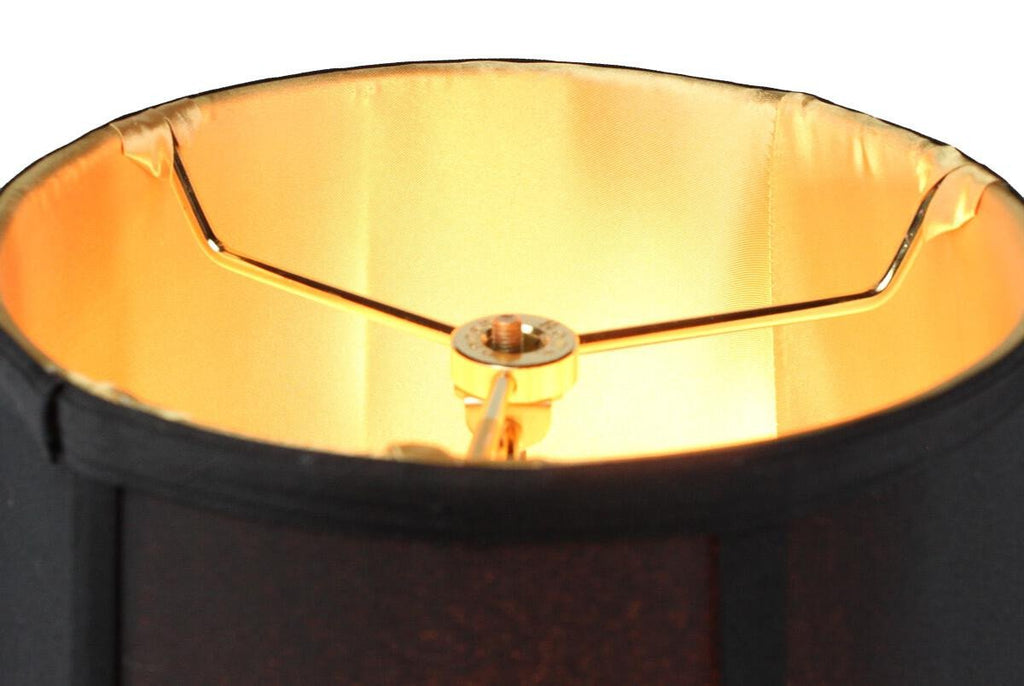 0-023978>Swag Pendant Plug-In One Light Black/Gold Shade