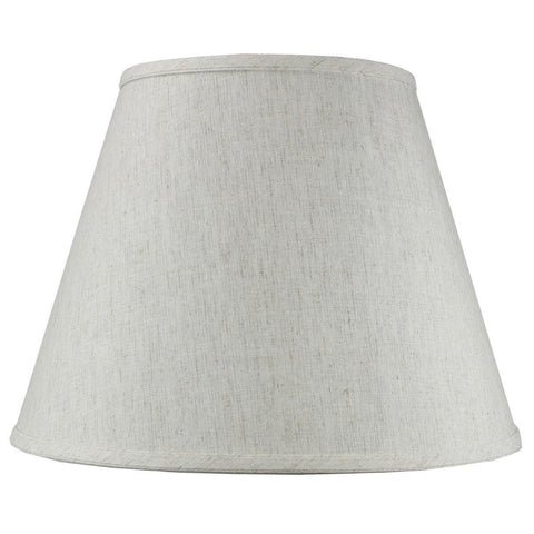 0-007518>9x16x12 SLIP UNO FITTER Textured Oatmeal Empire Hardback Lamp Shade