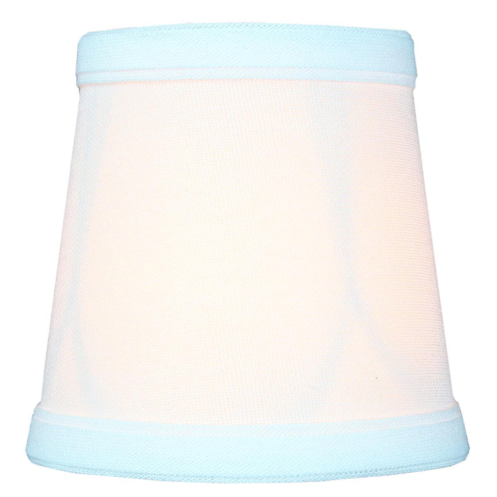 0-000714>3x4x4 Chandelier White Linen Clip-On Lamp shade