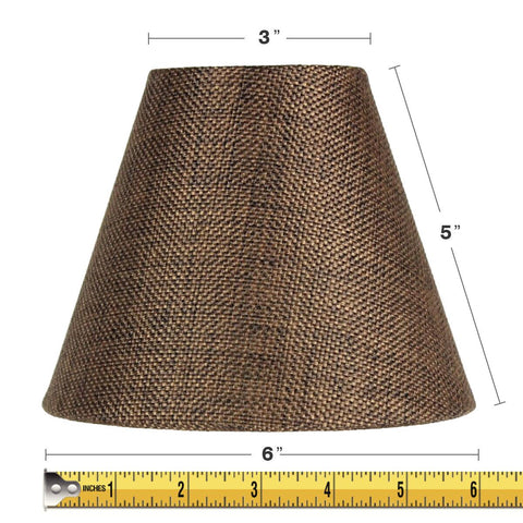 0-007879>3x6x5 Chocolate Burlap Chandelier Lampshade