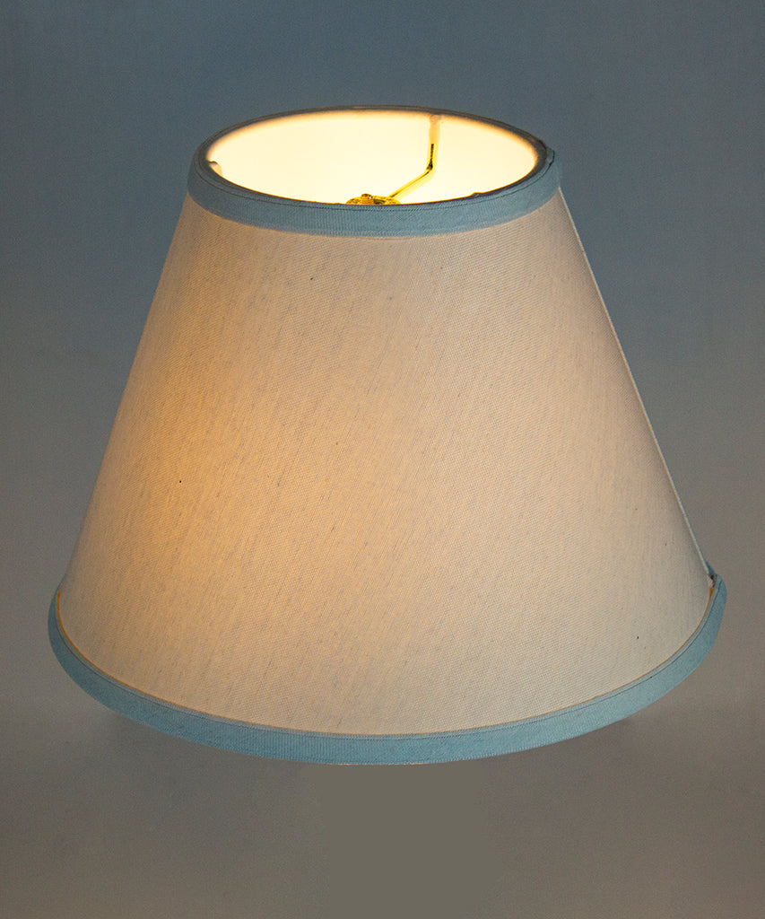 0-000280>6x12x9 Hard Back Empire Lamp Shade Light Oatmeal