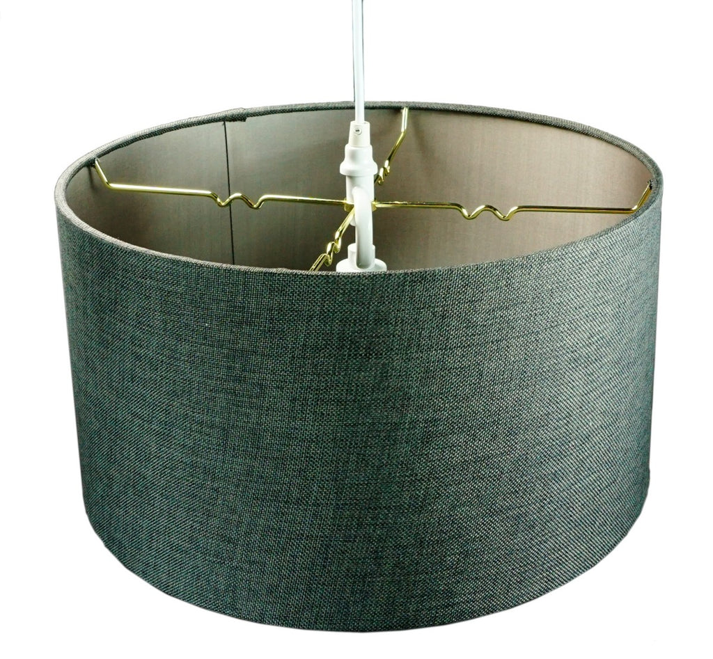 Granite Grey 2 Light Swag Plug-In Pendant with Diffuser