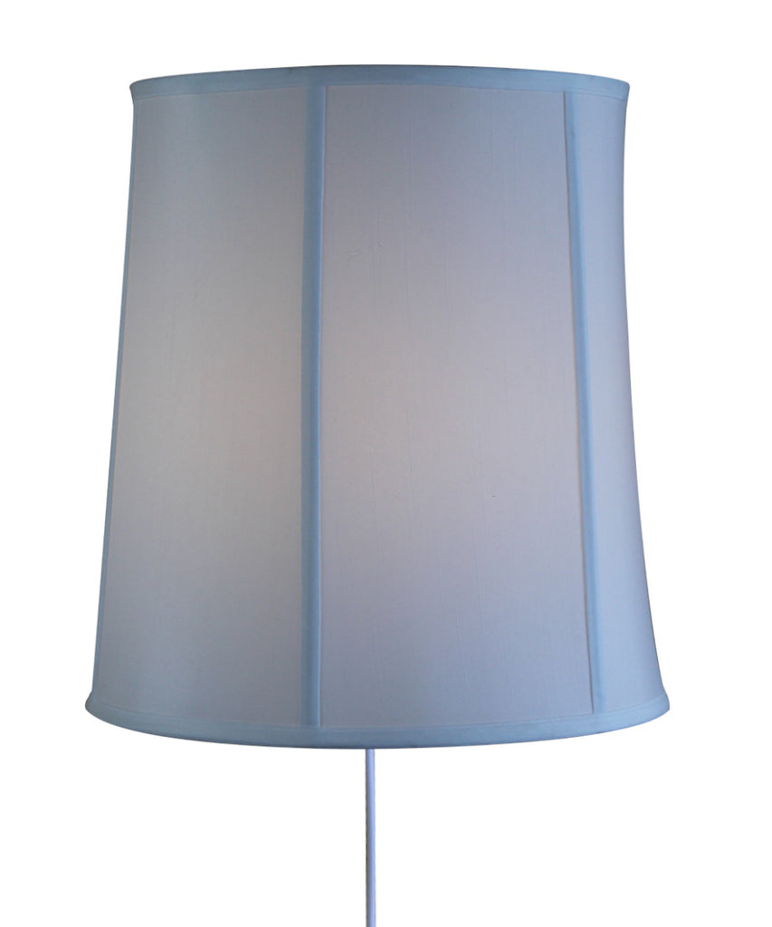 Floating Shade Plug-In Wall Light White Linen Fabric 12x14x15