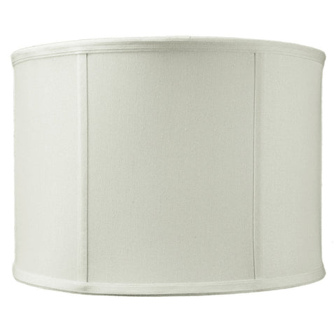 0-001845>14x14x10 Drum Lamp Shade Premium Light Oatmeal Linen