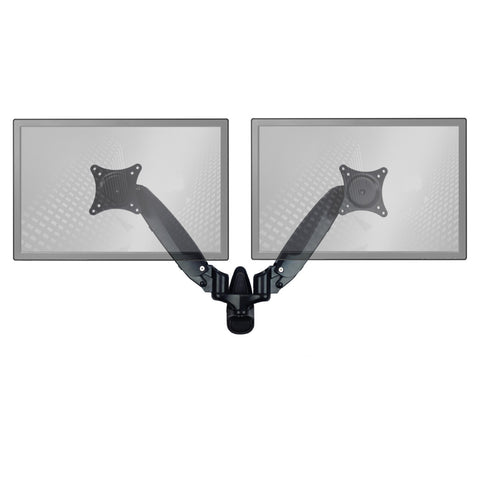 0-001308>Sit-Stand Wall Mount Monitor Arm: Standard Dual Screen Black