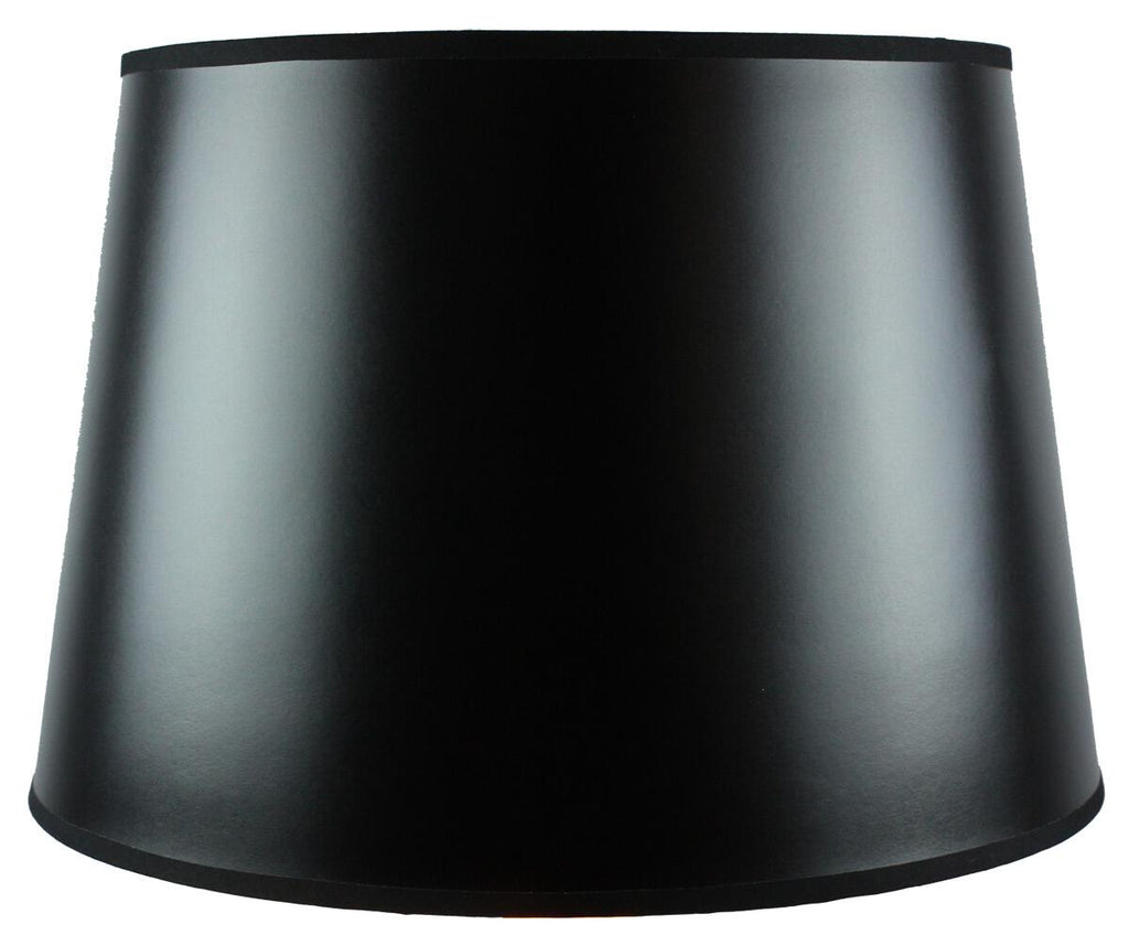 13x16x11 SLIP UNO FITTER Black Parchment Gold-Lined Floor Lampshade