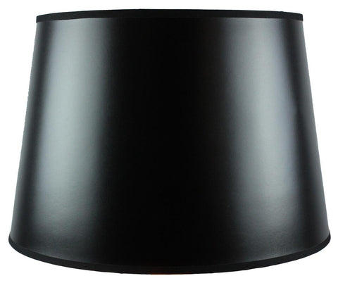 0-015639>13x16x11 SLIP UNO FITTER Black Parchment Gold-Lined Floor Lampshade