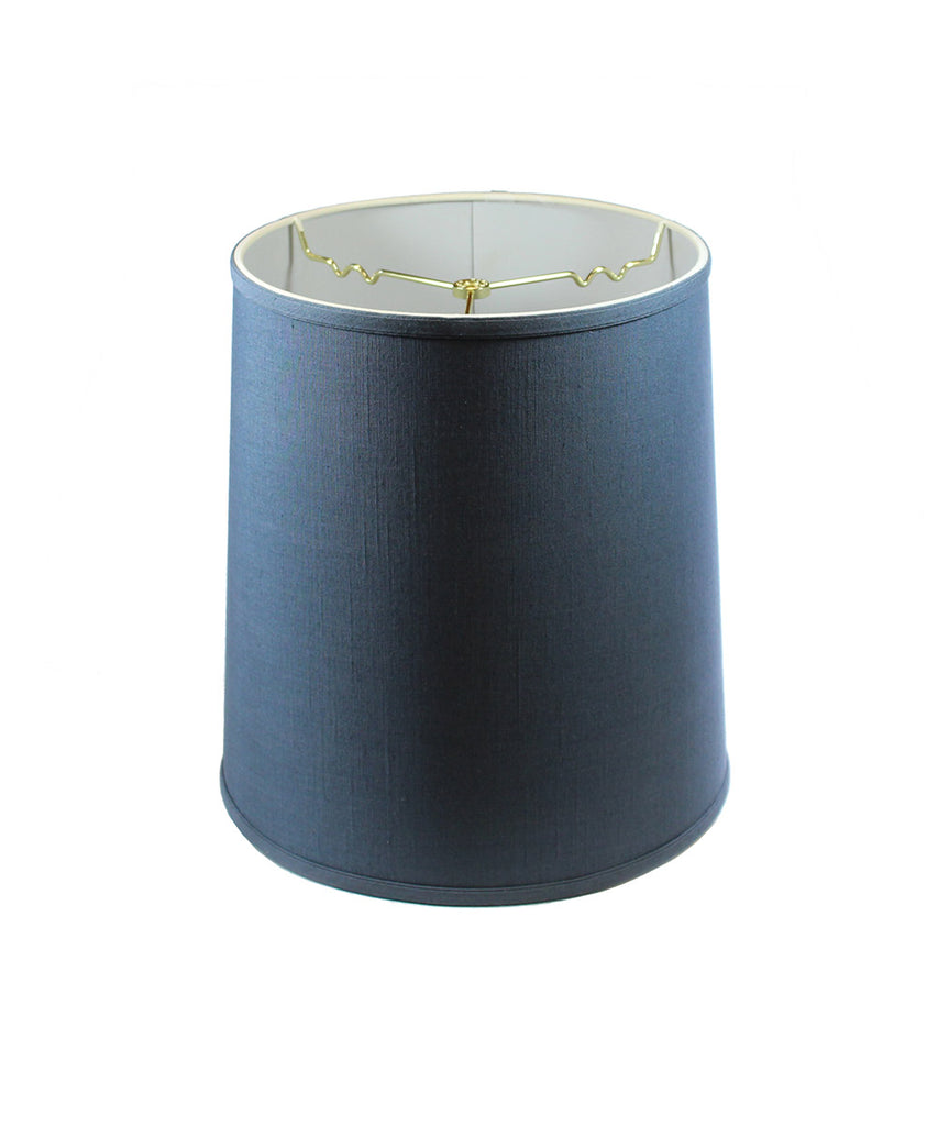 0-002019>Textured Slate Blue Drum Shantung Shade