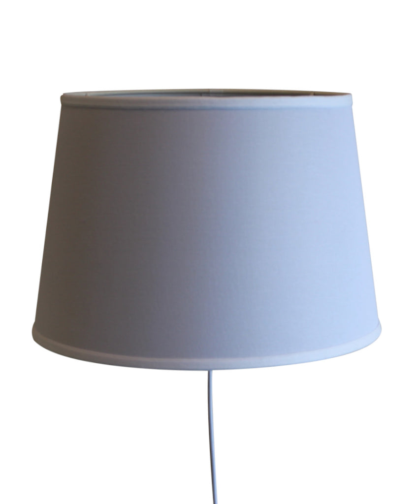 Floating Shade Plug-In Wall Light White Fabric 13x16x11