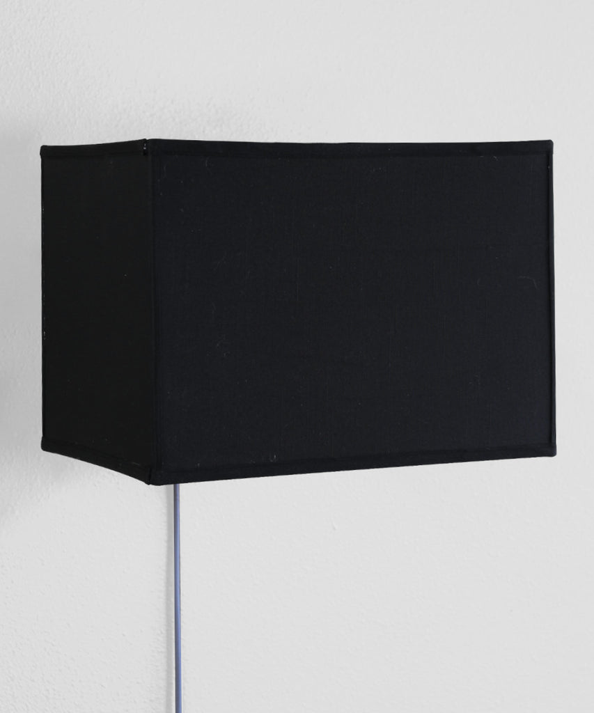 Floating Shade Plug-In Wall Light Black (16x10) (16x10) x 11