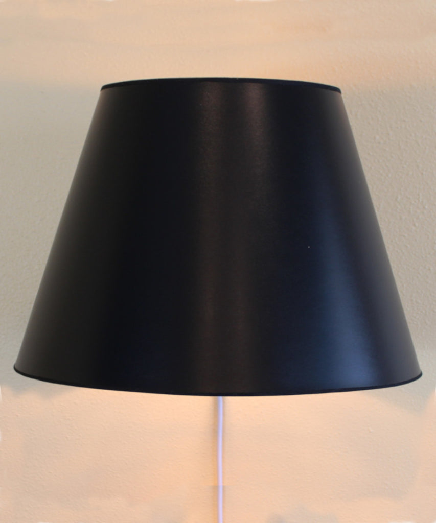 Floating Shade Plug-In Wall Light Black Parchment Gold-Lined 13x16x11