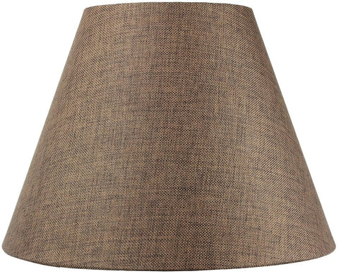 0-004041>8x16x12 SLIP UNO FITTER Hard Back Empire Lampshade - Chocolate Burlap