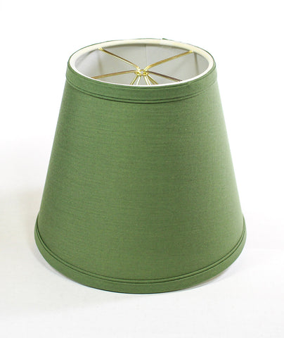 0-000066>5x8x7 Empire Linen Edison Clip On Lamp Shade Kale Green