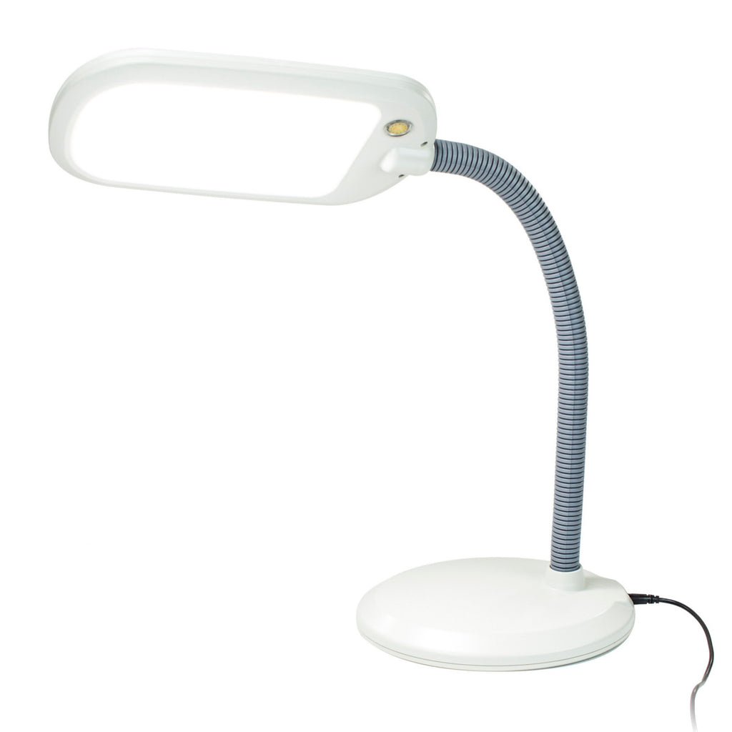 LED Bright Reader Natural Daylight Full Spectrum Desk Lamp Grey