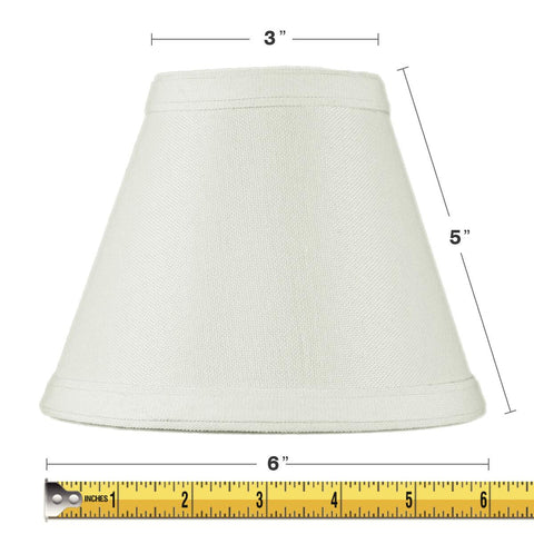 0-001249>3x6x5 Hard Back Empire Candle Clip Lamp Shade Light Oatmeal