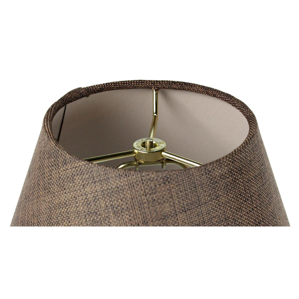 0-000348>6x12x9 Slip Uno Fitter Hard Back Empire Lamp Shade - Chocolate Burlap