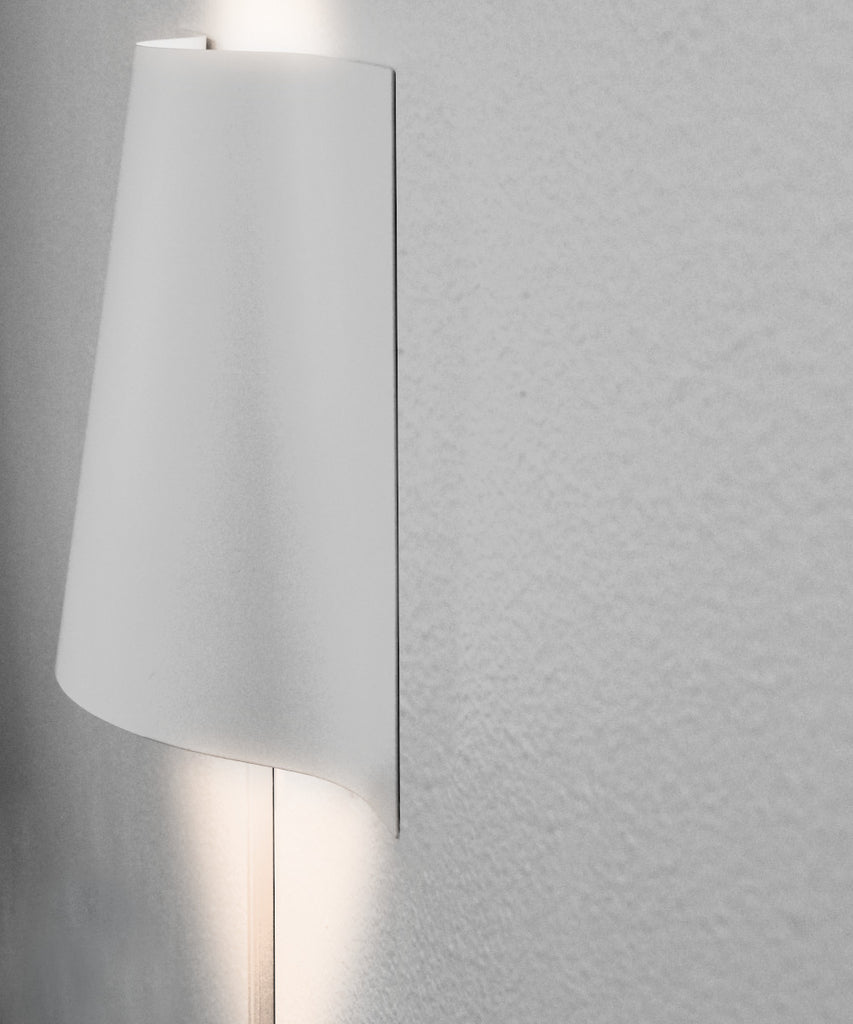 "0-001138>LED ""Surface Wave"" Alluring Curved Metal Wall Light 10""h x 16""w"