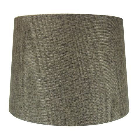 0-002027>12x14x10 Hardback Drum Lamp Shade Chocolate Burlap