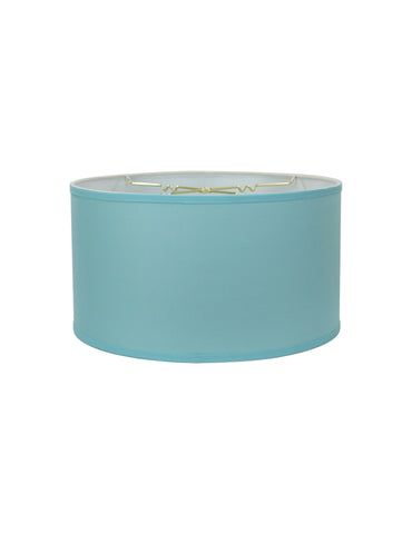 0-002089>14x14x7 Drum Lamp Shade Premium  Island Paridise Blue