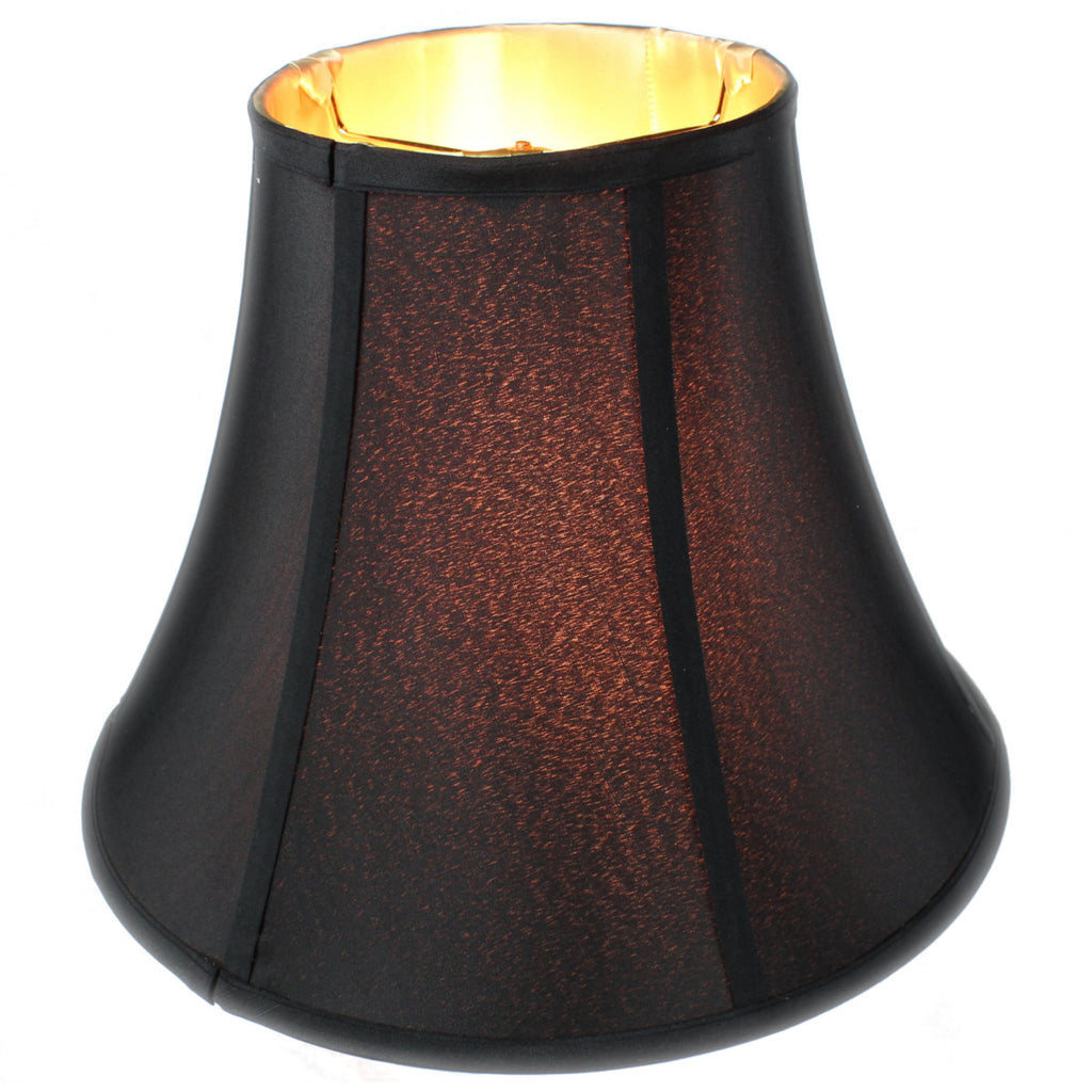 0-000581>7x14x11 Black with Gold Lining Bell Lampshade