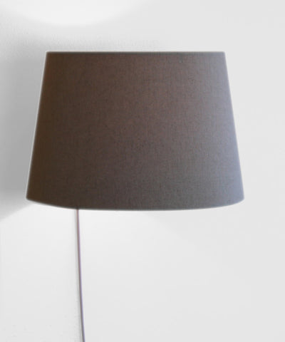 0-000769>Floating Shade Plug-In Wall Light Sand Linen 13x16x11