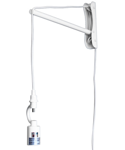 The MAST 1 Light Wall Arm Converts Your Lampshade to a Wall Pendant, White