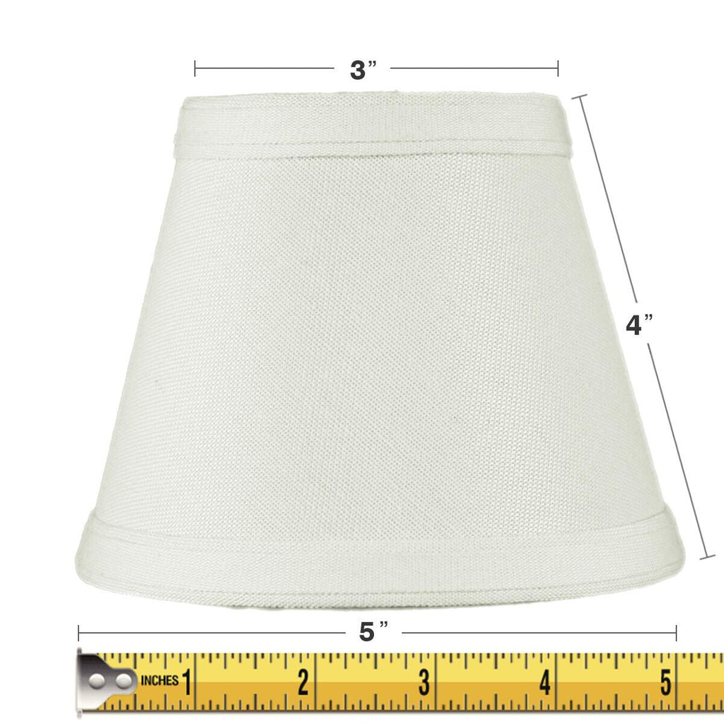 0-002676>3x5x4 Clip-on Candelabra Lamp Shade Light Oatmeal