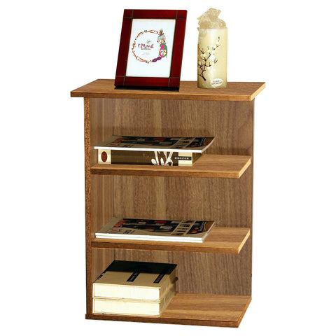 0-000896>Magazine Rack Chairside End Table Walnut