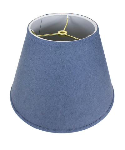 0-008455>9x16x12 SLIP UNO FITTER Textured Slate Empire Hardback Lamp Shade