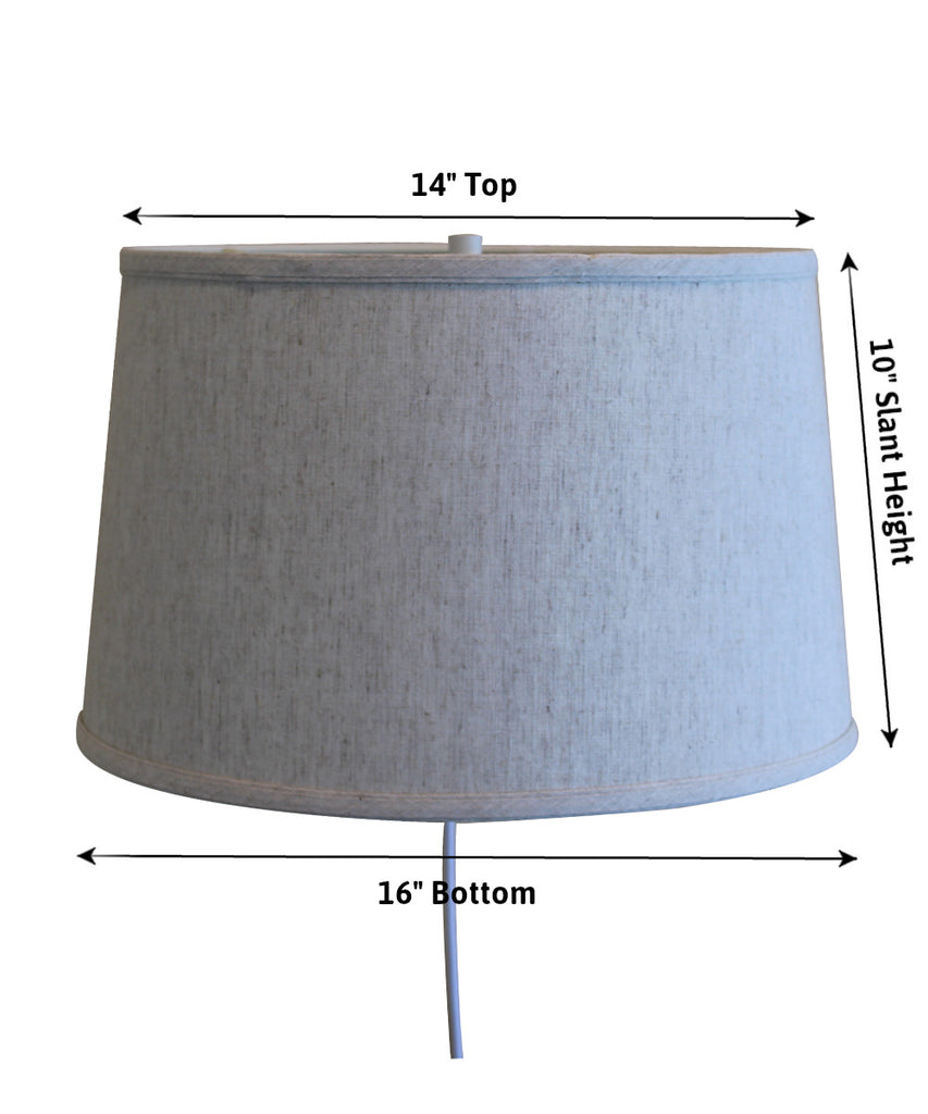 0-000827>Floating Shade Plug-In Wall Light Textured Oatmeal 14x16x10