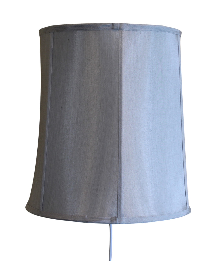 0-000595>Floating Shade Plug-In Wall Light Gray 12x14x15