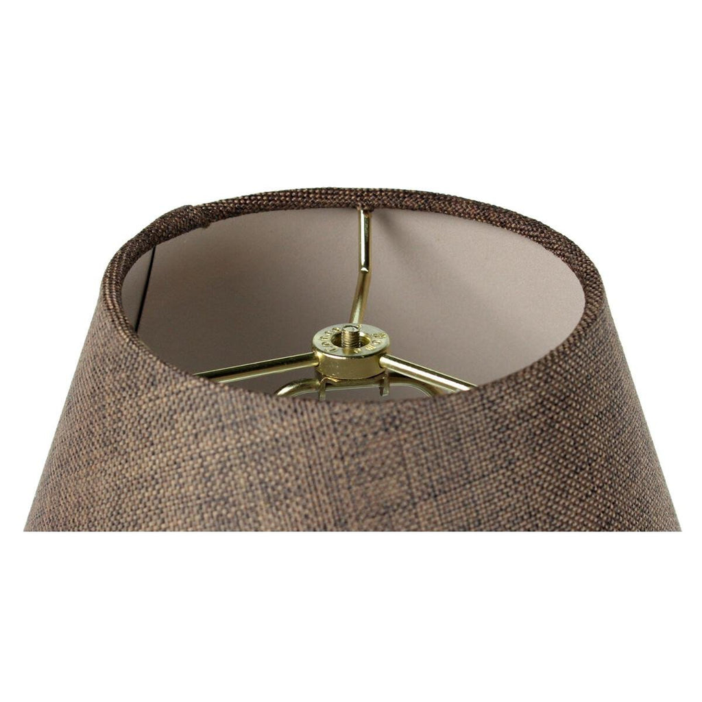 0-000348>6x12x9 Hard Back Empire Lamp Shade - Chocolate Burlap