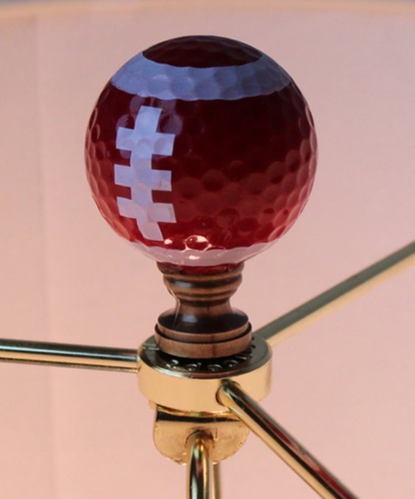 "0-009297>Football Lamp Finial, Brown with White Laces 2.25""h"
