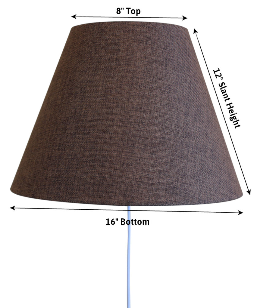 Floating Shade Plug-In Wall Light Chocolate Burlap 8x16x12