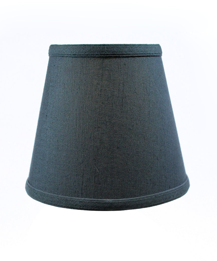5x8x7 Textured Slate Blue Hard Back Lampshade with Gold Lining-Edison Clip On