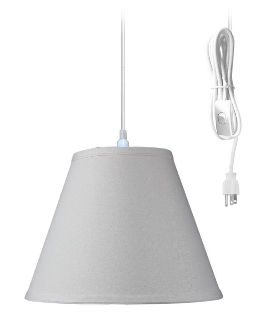 Swag Pendant Plug-In One Light Light Oatmeal Shade