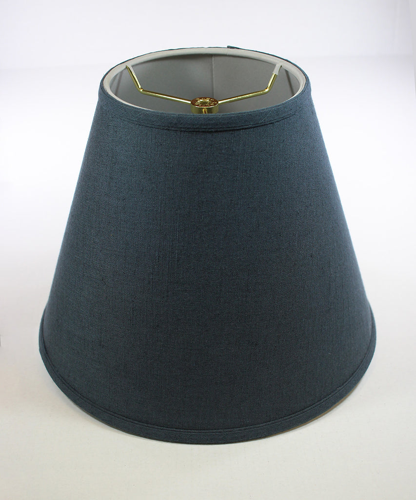0-002012>Textured Slate Blue Hard Back Empire Shade