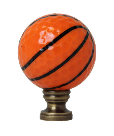 "Basketball Lamp Finial, Orange with Black Lining 2.25""h"